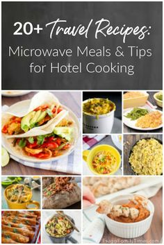 Travel Recipes: Meals to Make in a Hotel Room Microwave or Kitchenette Help! Our AirBNB doesn't Healthy Microwave Meals, Microwave Dinners, Microwave Recipes, Healthy Family Meals, Quick Meals, Cooking Recipes, Healthy Recipes, Family Recipes, Healthy Eating