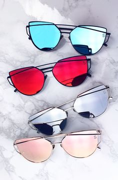 Sunglasses are a must especially cheap affordable sunglasses. From Oakley to Ray-Ban here are top websites to shop for cheap sunglasses, enjoy it. Cute Sunglasses, Ray Ban Sunglasses, Cat Eye Sunglasses, Sunnies, Mirrored Sunglasses, Mirrored Aviators, Summer Sunglasses, Sunglasses Women, Polarized Sunglasses