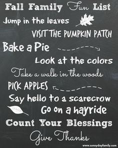 Fall Family Activities: Free Printable List Inspired by The Berenstain Bears' Harvest Festival | Sunny Day Family