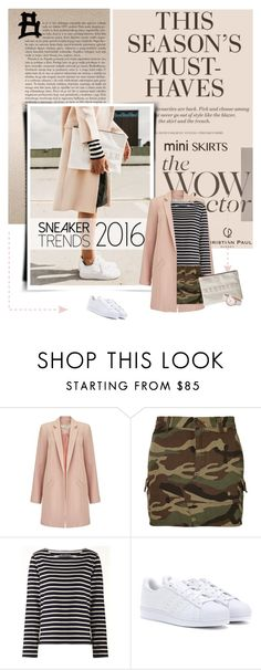 """""""Fringe Festival Trend:"""" by lacas ❤ liked on Polyvore featuring H&M, Alasdair, Miss Selfridge, Yves Saint Laurent, Petit Bateau, adidas, MINISKIRT, trenchcoat, sneakerstyle and christianpaul"""