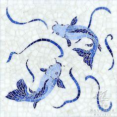 New Ravenna custom Koi fish mosaic.