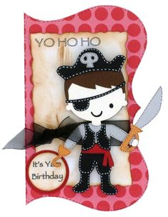Pirate.  Cricut Birthday Card Ideas   CraftDirect Blog