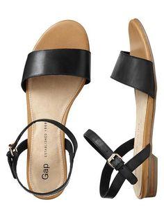 Leather Sandals - true black