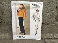 80's Anne Klein Vogue 1661 Ameican Designer Pattern Misses' Jacket, Skirt and Pants - Size 12 Bust 34 FF by ElkHugsVintage on Etsy