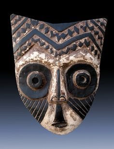 Africa   Mask from the Kuba people of DR Congo   Wood, kaolin and pigment
