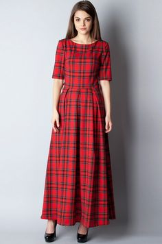 Модное платье в клетку фото | Модные платья