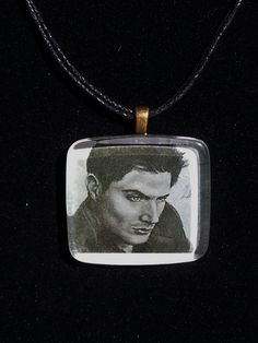 Check out this item in my Etsy shop https://www.etsy.com/listing/194159778/dean-winchester-portrait-pendant
