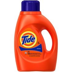 Tide® Original 50 oz. 2x Liquid Laundry Detergent in Original Scent | Bed Bath & Beyond Tide Liquid Detergent, Tide Laundry Detergent, Natural Laundry Detergent, Deep Cleaning, Spring Cleaning, Tide Pods, Solution, Orange