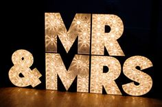 Boho Planned Weddings: Maddy and Chris and Their Beautiful Garden Wedding - Boho Weddings™ Diy Marquee Letters, Marquee Sign, Marquee Lights, Light Letters, Garden Wedding, Boho Wedding, Dream Wedding, Wedding Reception, Light Wedding