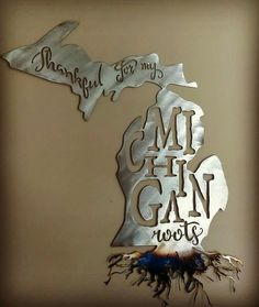 """Thankful for my Michigan roots""  Facebook.com/motorcitymetal Instagram @motor city metal   We can make just about anything from steel.    Send us a message for a quote today !"