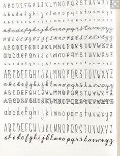 Schriftarten Hand written lettering different fonts practice alphabet Bullet Journal School, Bullet Journal Titles, Bullet Journal Aesthetic, Hand Lettering Alphabet, Handwriting Fonts Alphabet, Improve Handwriting, Bullet Journal Fonts Hand Lettering, Bullet Journal Ideas Handwriting, Penmanship