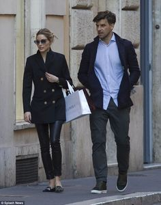 Wild nights? Olivia and Johannes enjoyed a spot of shopping ahead of the gala and Olivia was seen carrying a bag from La Perla, the Italian maker of fine lingerie - May 2016