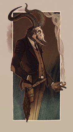 Crooked man Art Print by Lenka Simeckova | Society6