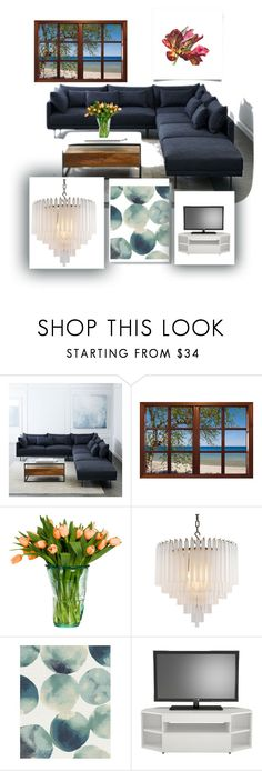 """""""Elegant Living Room#"""" by maidpolyvore ❤ liked on Polyvore featuring interior, interiors, interior design, home, home decor, interior decorating, West Elm, Eichholtz, Nexera and living room"""