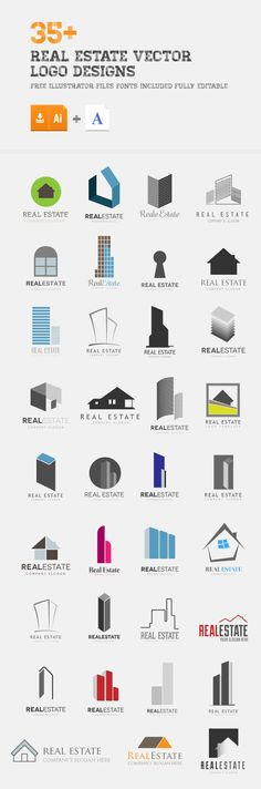 35+ Real Estate Logos ( Ai, Eps)