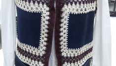 Eski Kot Pantolondan Yelek Nasıl Yapılır. – El İşlerimiz Sweaters, Accessories, Fashion, Embroidery On Jeans, Vest Coat, Craft, Crocheting, Tejidos, Dressmaking