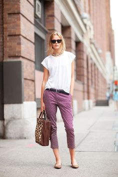 STREET STYLE SPRING 2013: NYFW - Frida Gustavsson is casual but collected in cropped pants and a white tee.