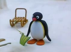 Pingu is the main character of the TV show of the same name. Pingu a is cheery fun-loving penguin who lives with his family in the South Pole. He sometimes helps his mother and father out with chores, and he often takes care of Pinga when Mother and Father are busy.
