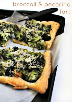 Broccoli and Pecorino Tart. Super fast and easy.