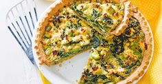 This fabulous vegetarian pie contains broad beans, fetta cheese and spinach in a crunchy wholemeal pastry.