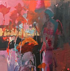 """Daily Painters Abstract Gallery: Contemporary Abstract Botanical Landscape Painting, Abstract Figure """"Passion Calling"""" by Intuitive Artist Joan Fullerton Abstract Landscape, Landscape Paintings, Landscapes, Oil Paintings, Watercolor Pencil Art, Watercolor Painting, Autumn Painting, Painting Abstract, Painting Courses"""
