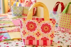 Tiny Totes by Happy Zombie, via Flickr love these bags and happy zombie!