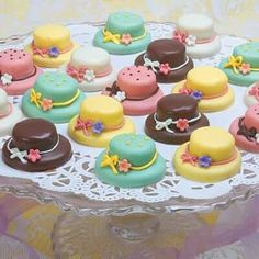 would be sweet for Easter, tea party or any lovely get together! } Afternoon Tea Party Site Map Petits Fours Tea Cakes Tea Cookies Curds Flavored Tea Spoons Decorated Sugar Cubes Mini Cakes, Cupcake Cakes, Rose Cupcake, Cupcake Toppers, Petit Cake, Tea Cookies, Shortbread Cookies, Sugar Cookies, Afternoon Tea Parties