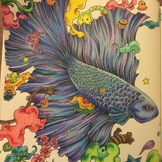 """Finished  #adultcolouring #myCreativeEscape #prismacolor #animorphia @kerbyrosanes"""