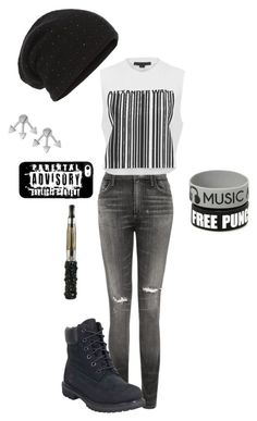 """""""Untitled #188"""" by pansexual-punk-14 ❤ liked on Polyvore featuring Citizens of Humanity, Alexander Wang, Timberland, William Sharp and French Connection"""