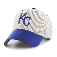 1b7b6b50714e2 Kansas City Royals Pinstripe Home Run Two Tone Clean Up Navy 47 Brand Adjustable  Hat