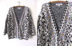 vintage Kitty Hawk Knit Cardigan Sweater  by BuddyBuddyVintage