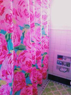 Roses Shower Curtain - Bath - for Barbie