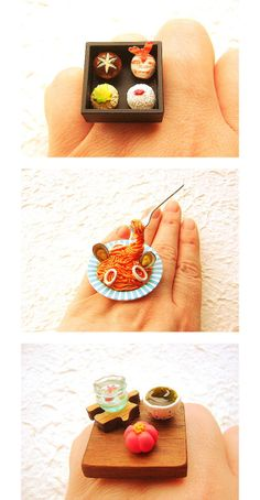 You can wear your fav Japanese food: rings by Souzou Creations