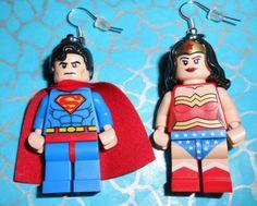 LEGO SuperHero earrings? Oh yeah!