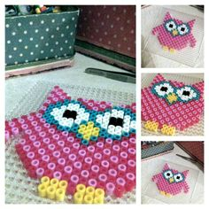 Perler bead owl by evleinaa