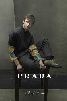 Dane DeHaanph by Annie Leibovitz for Prada Spring/Summer 2014 ad campaign.