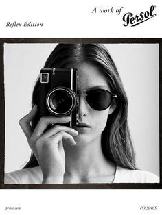 Enter the Persol Reflex Photo contest and win a trip for two to Venice and a brand new Leica M-E to capture every moment. Photography Tips, Portrait Photography, Fashion Photography, Girls With Cameras, Foto Pose, Monochrom, Female Photographers, Vintage Cameras, How To Take Photos