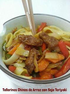 ¿No sabes cómo cocinar unos tallarines chinos de arroz? Aquí, una suculenta idea