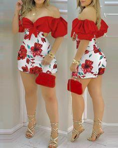 Chic Type, Trend Fashion, Fashion Outfits, Women's Fashion, Shoulder Knots, Shoulder Sleeve, Blush Skirt, Best Deals Online, Rompers Women