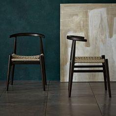 John Vogel Chair - Flax/Chocolate #westelm