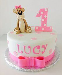 First Birthday Cake | Teddy Bear | Sugar Divas Cakery | Orlando