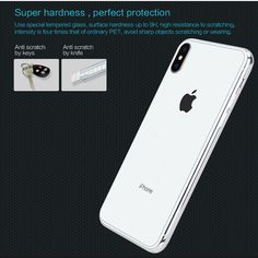 Nillkin Clear Tempered Glass Back Screen Protector For iPhone XS Max 0.33mm Explosion Proof Fingerprint Resistant