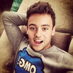 Because he makes this precious face. | 40 Shameless Reasons Tom Daley Is A Gift To Us All