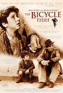 A man and his son search for a stolen bicycle vital for his job.  Language: Italian Release Date: 13 December 1949 (USA)  Certificate: Australia:PG Ratings: 8.4/10 from 67,221 users