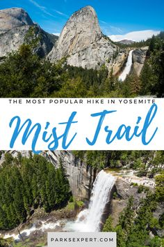 If you only have time for one full day hike in Yosemite, make it the Mist Trail. This is Yosemite National Park at its finest. Learn more about the Mist Trail hike | Mist Trail | Mist Trail Yosemite | Yosemite Mist Trail Sequoia National Park, National Parks Usa, Grand Teton National Park, Rocky Mountain National Park, Mist Trail Yosemite, Usa Travel, Travel Tips, Outdoor Woman, Travel Aesthetic
