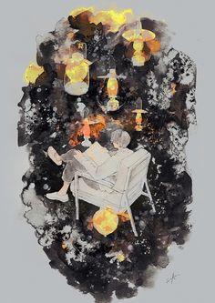 暗闇の中の灯火