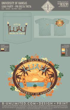 Phi Delta Theta Luau Event Shirt | Fraternity Event | Greek Event #phideltatheta #phidelt Phi Delta Theta, Greek Clothing, Sorority Shirts, Social Events, Fraternity, Luau, Custom Clothes, Shirt Designs, Greek Outfits