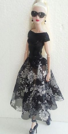 35.15.6/    . 12 inch fashion doll bodysuite dress is one size fits all!  I will promise you will going to love this dress on you amazing 12 inch doll!  Fits Barbie as well!  Fabric is stretchy for an amazing fit!    The doll and the accessories are not included!    All order can be combine ship! | eBay!