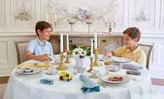 A Formal, But Fun Kids' Tablescape