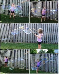 How to Make Giant Bubbles (Recipe + Hack) - Crafty Morning